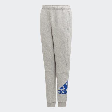 Pantalon Must Haves Badge of Sport Fleece gris Adolescents Essentials