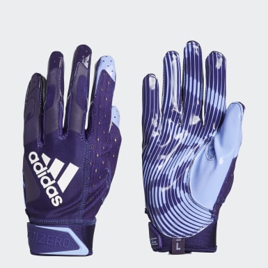 Football Purple Adizero 9.0 Highlighter Receiver Gloves