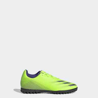 Children Soccer Green X Ghosted.4 Turf Shoes