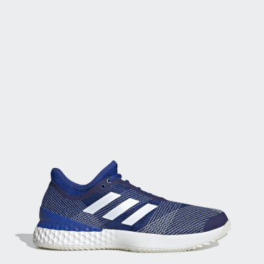 Adizero Ubersonic 3.0 Clay Shoes Niebieski