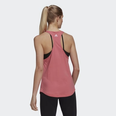 Women Sport Inspired Pink LOUNGEWEAR Essentials Loose Logo Tank Top