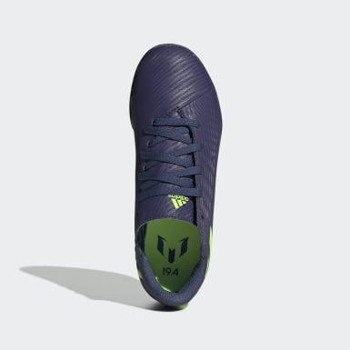Boys Fodbold Blå Nemeziz Messi 19.4 Turf støvler