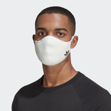 Men's Athletics White Face Covers M/L 3-Pack