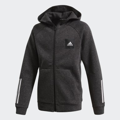 Jungen Athletics Must Haves Kapuzenjacke Schwarz