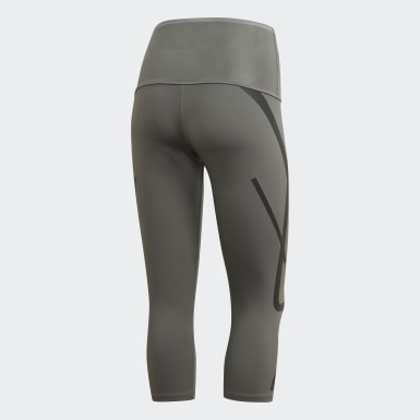 Women adidas by Stella McCartney Grey adidas by Stella McCartney TRUEPACE 3/4 Leggings