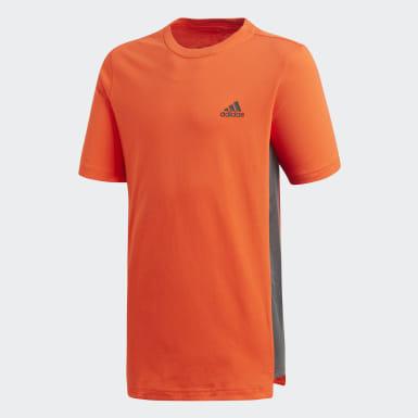 оранжевый Футболка ID