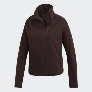 Women Athletics Burgundy Heartracer Jacket Here to Create