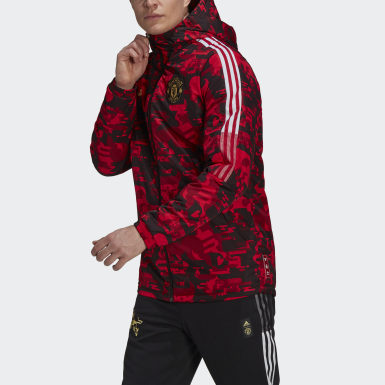 Men Football Red Manchester United CNY Padded Jacket