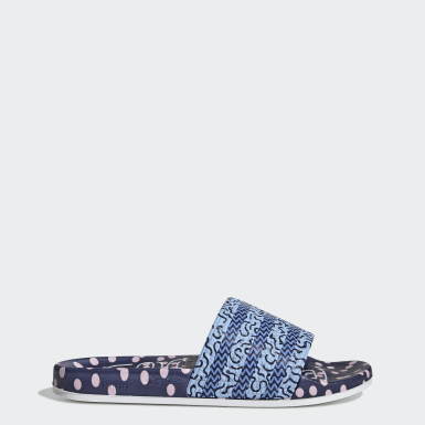 Women Originals Blue Adilette Slides