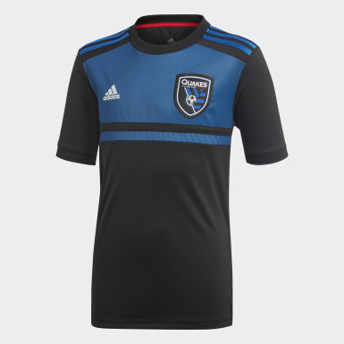 Youth Soccer Black San Jose Earthquakes Home Jersey