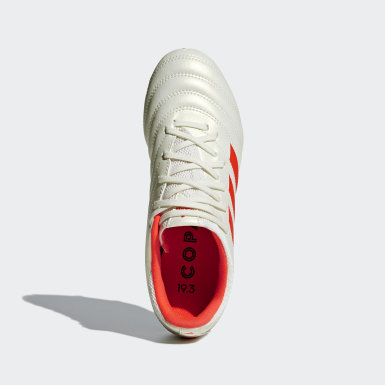 Kids Football Beige Copa 19.3 Firm Ground Boots