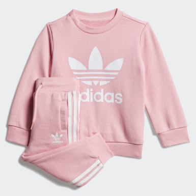 Infants Originals Pink Crew Sweatshirt Set