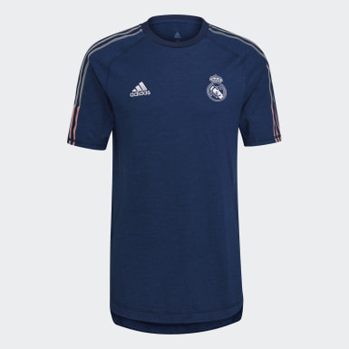 Men Football Blue Real Madrid Travel Tee