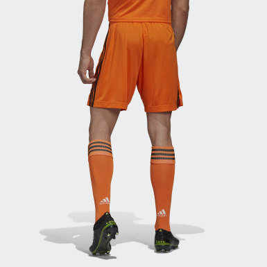 Men Football Orange Juventus 20/21 Third Shorts