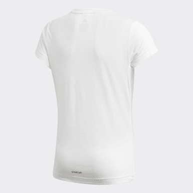 Girls Yoga White UP2MV AEROREADY Tee
