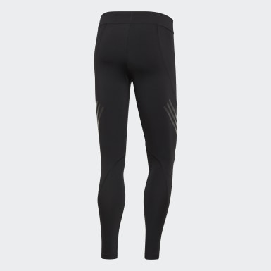 Men's Yoga Black Alphaskin Tech 3-Stripes Long Tights