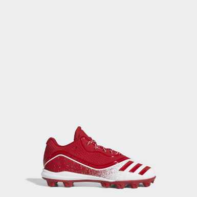 Children Baseball Red Icon V Mid Cleats