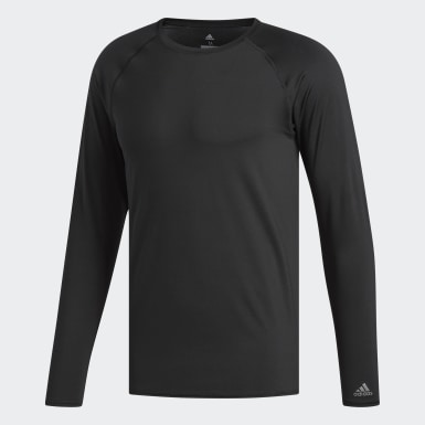 Men Golf Black Lightweight UPF Base Layer Shirt