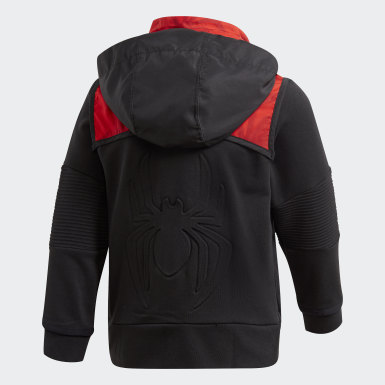 Children Training Black Marvel Spider-Man Hoodie