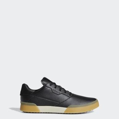 Sapatos Retro Adicross Preto Criança Golfe