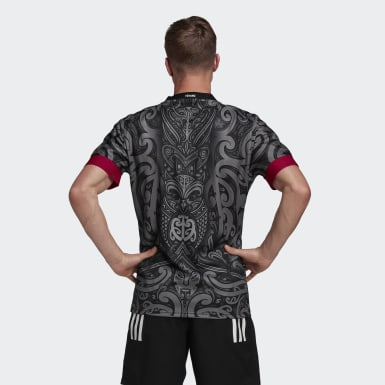 Heren Rugby Zwart Māori All Blacks Replica Shirt