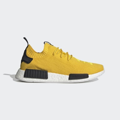 Men Originals Yellow NMD_R1 Primeknit Shoes