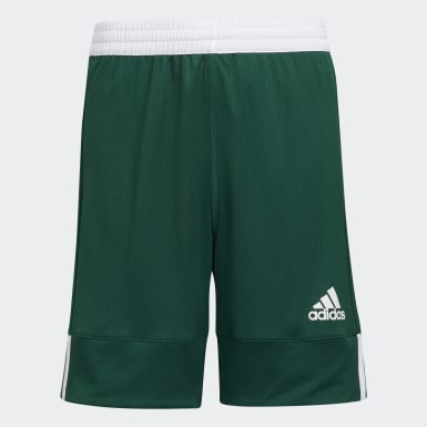 Kids Basketball Green 3G Speed Reversible Shorts