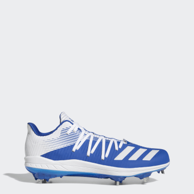Men Baseball Blue Adizero Afterburner 6 Cleats