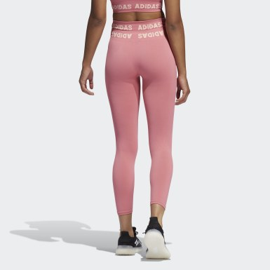Women Running Pink Training Aeroknit 7/8 High-Rise Tights