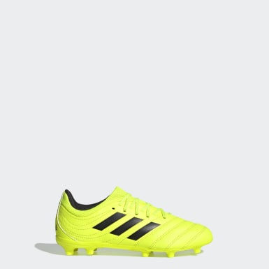 Zapatos de Fútbol Copa 19.3 Terreno Firme Amarillo Niño Fútbol