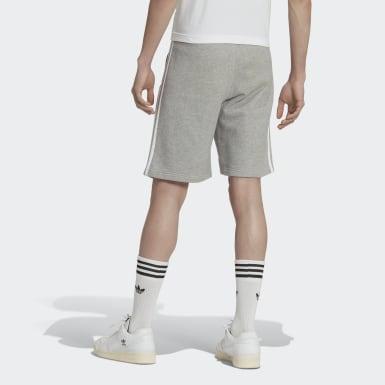 Shorts 3 Tiras - Tiro Medio Gris Hombre Originals