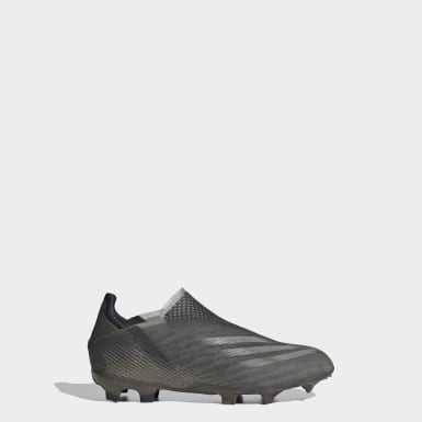 Boas de Futebol X Ghosted+ – Piso firme Preto Criança Futebol