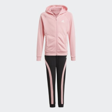 Bold Hooded Track Suit Różowy