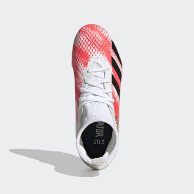 เด็กผู้ชาย ฟุตบอล สีขาว รองเท้าฟุตบอล Predator 20.3 Firm Ground