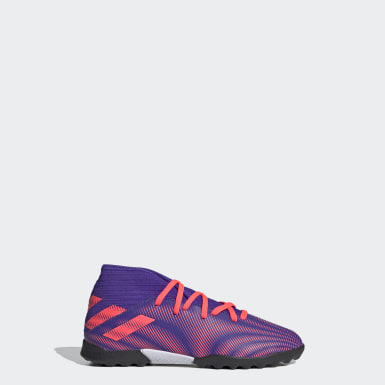 Children Soccer Purple Nemeziz .3 Turf Shoes