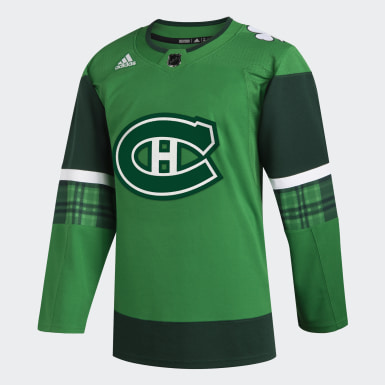 Men Hockey Multicolor Canadiens St. Patrick's Day Authentic Pro Jersey
