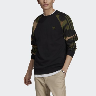 Men's Originals Black Camo Stripes Crewneck Sweatshirt