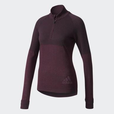 красный Куртка для бега Climaheat Primeknit
