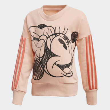 Kids 4-8 Years Training Pink Minnie Mouse Crew Sweatshirt