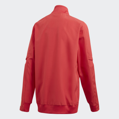 Kids Football Red Belgium Presentation Jacket