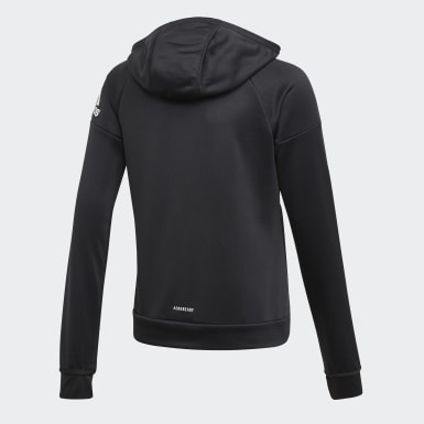 Chaqueta con capucha Equipment Negro Niña Yoga