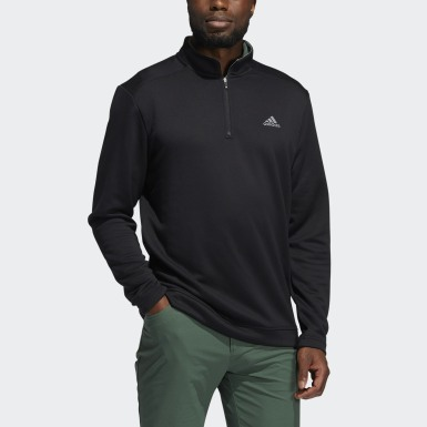 Men Golf Black Club Quarter-Zip Pullover