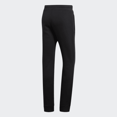Pants Trifolio - Corte Medio Negro Hombre Originals