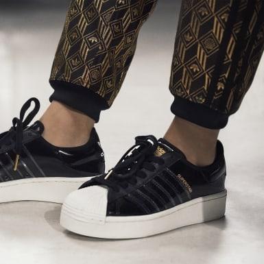 Frauen Originals Superstar Bold Schuh Schwarz