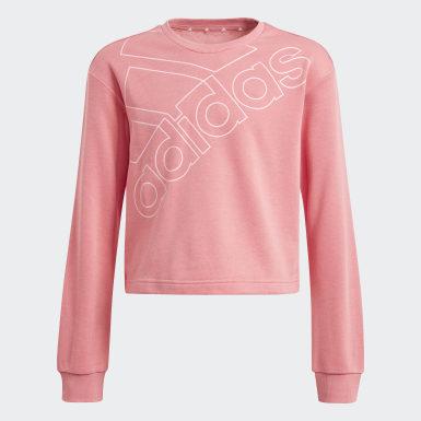 Sudadera adidas Essentials Logo Rosa Niña Diseño Deportivo