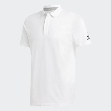 Men Sport Inspired White Must Haves Plain Polo Shirt
