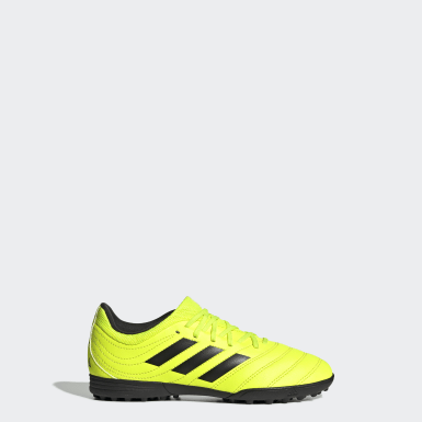 Kids Football Yellow Copa 19.3 Turf Boots