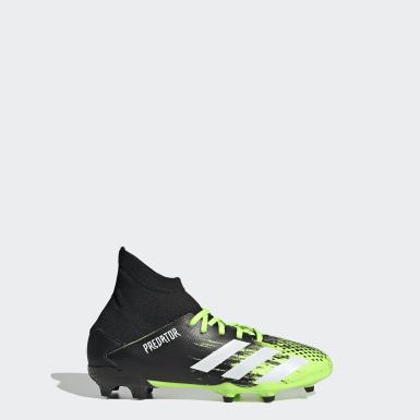 Boys Football Green Predator Mutator 20.3 Firm Ground Boots