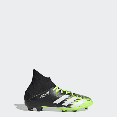 Boys Football Green Predator Mutator 20.3 Firm Ground Boots
