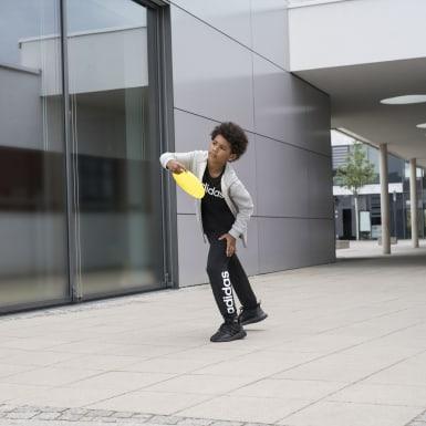 Pantaloni Essentials Linear Nero Ragazzo Athletics